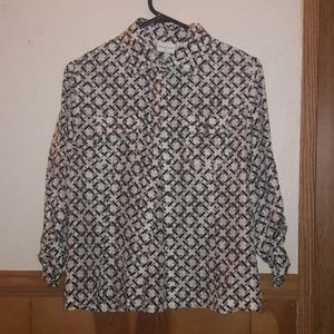 Jaclyn smith button down light weight square link